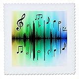 3dRose QS 62236_ 1schwarz Noten N Colorful Music