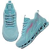APRILSPRING Women Tennis Shoes Wear Resistant Anti Skid Shock Absorption Walking Sneakers Light Blue,US 7