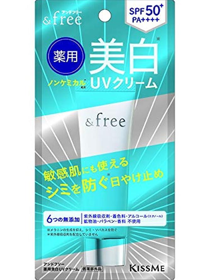 ミスペンド例示する到着するアンドフリー 薬用美白UVクリーム 30g