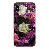 HUAI Cubiertas de Apple iPhone X XR XS 11Pro MAX 4S 5S 5C SE 6S 7 8 Plus iPod Touch 5 6 púrpura de Verano de los Peonies Accesorios Shell (Color : Images 10, Material : For iPod Touch 5)