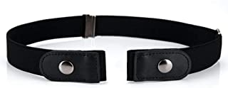 No Buckle Elastic Womens Belt for Jeans, Buckle-free Stretch Belts Up to Plus Size