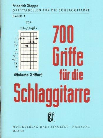 700 Griffe. Gitarre