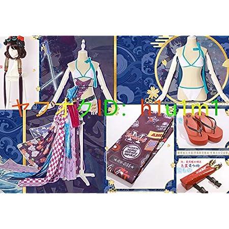 Fate/Grand Order 葛飾北斎 セイバー ラスベガス御前試合 水着 ビキニ コスプレ衣装 筆/ウィッグ/髪飾り/靴 追加可
