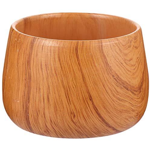 Hemoton Ceramic Planter Pots Wooden Pattern Succulent Planter Container Bonsai Cactus Pots (Bowl)