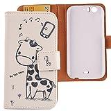 Lankashi PU Flip Leder Tasche Hülle Hülle Cover Schutz Handy Etui Skin Für WIKO Darkfull Giraffe Design