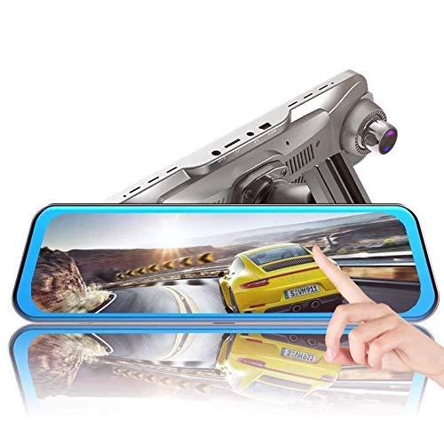 Auto Dash Cam,Auto DVR 10 Inch Volledig Scherm Streaming Media Achteruitkijkspiegel Hd 1080P Driving Recorder Starlight Night Vision Dubbele Lens