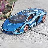 WJSM 1/18 para F-KP37 Modelo De Superdeportivo Vehículo De Juguete Simulación Sonido Luz Tirar hacia Atrás Coche Deportivo Colección De Juguetes para Regalos Vehículos (Color : Blue)