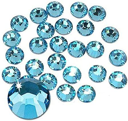 Jollin Hot Fix Cristal de Espalda Plano Vidrio pedrer/ía Gemas de diamantes redondos Strass para decoraci/ón de u/ñas Verde oscuro SS20 576pcs