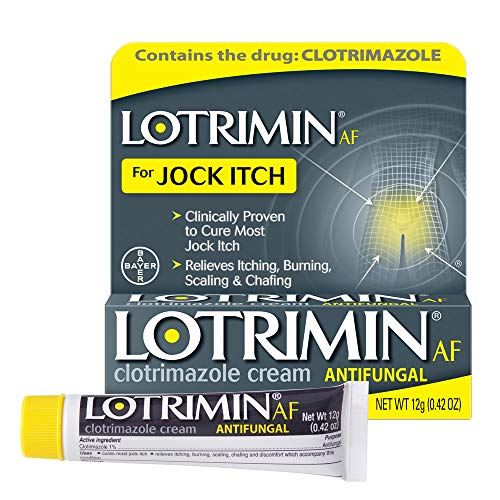 Lotrimin AF Jock Itch Antifungal Cream, Clotrimazole 1%, Clinically Proven Effective Treatment of Most Jock Itch, for Adults and Kids Over 2 Years, 0.42 Ounce (12 Grams)