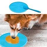 GZGZADMC - Almohadillas para perro, con espátula, salsa, yogur o manteca de cacahuete, perro y gato, color azul