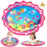 SEETOYS Tummy Time Baby Mermaid Water Mat, Infant Toy Largest 30' by 24.4', Inflatable Baby Play Activity Center for Boy&Girl Baby Toys 3 to 12 Months Baby