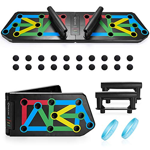 OneAmg Push Up Rack Board, Tabla de Flexiones 13 en 1 Multifunción...
