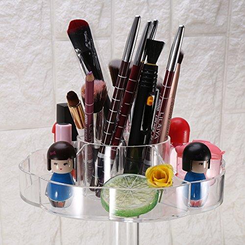 Boîte cosmétique, 360 degrés DIY Acrylique Transparent Cosmétique Organisateur Case Rotation Maquillage Organisateur 3 couches Maquillage Stockage Affichage Support Support Réglable Support De Spinnin