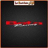 La Ruotante 2 Adhesivos Beta Racing (Vinilo) Decoración Deportivo de Coche Moto Vespa Bicicleta Casco 500-20x3,5 Cm