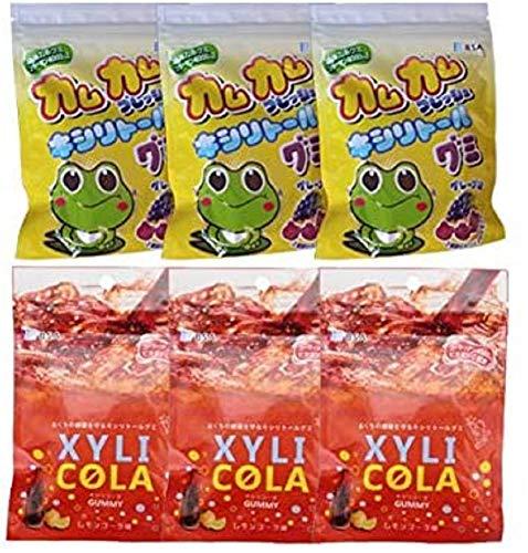 カムカムフレッシュ キシリトール グミ 3袋×キシリトールグミ キシリコーラ 3袋