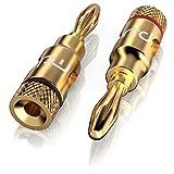 Adaptador de Sonido Superior de Primewire - Conector para Altavoces HiFi - Conector- Enchufe Tipo Banana -para Cables de Altavoz de hasta 6,8mm - Contactos Dorados - Transferencia de señal óptima