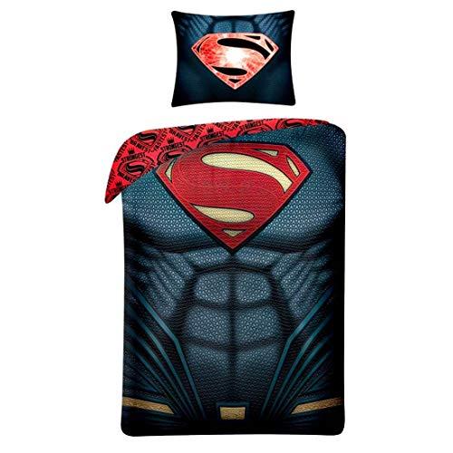 Bettwäsche-Set für Einzelbett, Bettbezug / Kissenbezug, Superman-Brust
