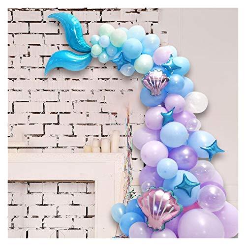 ZHEMAIDZ Ballon 87 stücke Meerjungfrau Schwanz Ballon Girlande Set Latex Ballonbogen Hochzeit Baby Dusche Mädchen Geburtstagsfeier DIY Dekorationen Liefert décoration