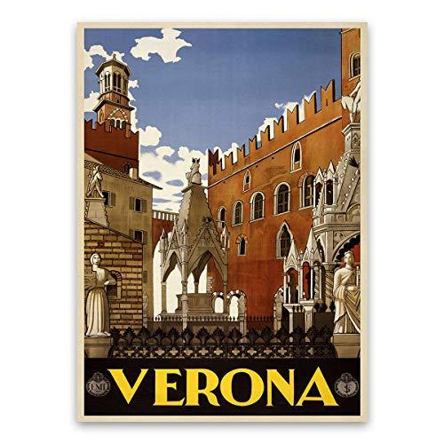 Verona Italy Travel Poster