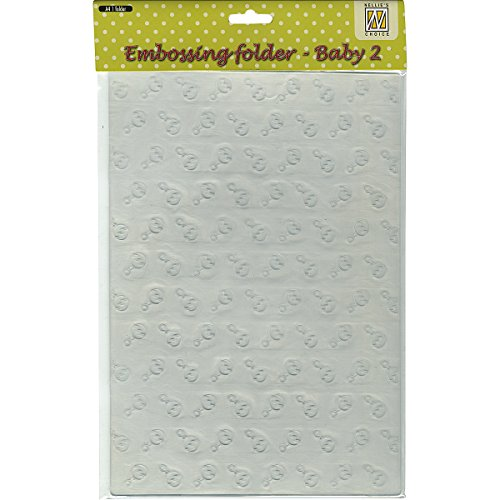Ecstasy Crafts Nellie's Choice A4 Embossing Folder-Baby 2, 8.25 by 11.875-Inch