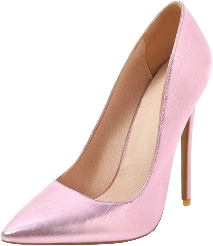 Agodor Women's High Heels Wedding Pumps Stiletto Elegant Pointed Toe Work Slip on Summer shoes