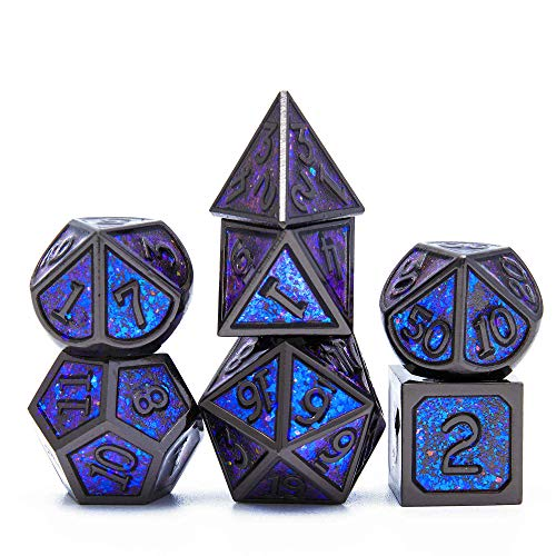U/D DND Metal dice are Used as Dungeon and Dragon dice Game RPG. Metal Multi-Sided DND dice Set, Very Suitable for dice Collection