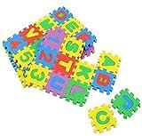 ODN Mini Puzzlematte 36 Matten Puzzleteppich kreativ Kinder Spielmatte Spielteppich Schaumstoffmatte rutschfest Lernteppich schadstofffrei Spielfläche Lerneffekt ABC Puzzle Moosgummi