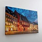 DesFoli Freiburg Deutschland Stadt Skyline Leinwand
