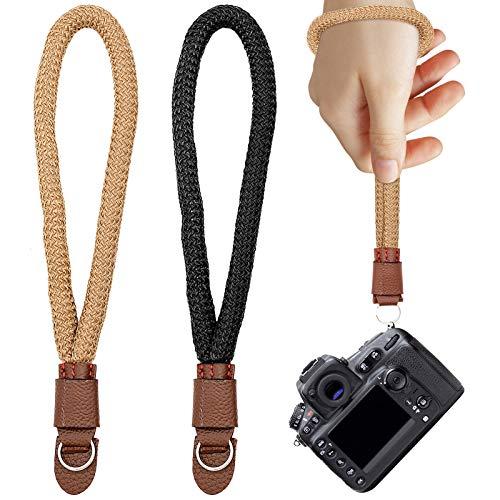 2 correas de muñeca para cámara, correa trenzada para cámara de sistema Canon, binoculares y cámara digital