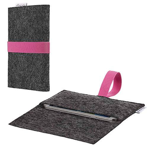 flat.design Handy Hülle Aveiro kompatibel mit Ruggear RG720 passexakte Filz Tasche Hülle Sleeve Made in Germany
