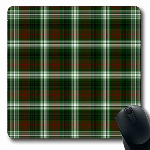 Alfombrillas para computadoras Heritage Tartán británico Cuadros a Cuadros Despojado Cultura Fab Kilt Design Tejido Antideslizante Oblong Gaming Mouse Pad