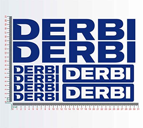 Sticker, compatibel met DERBI MULHACEN SENDA GPR50 GP125 GP1 motorfiets Decal kleur 1257 049 BLU ROYAL