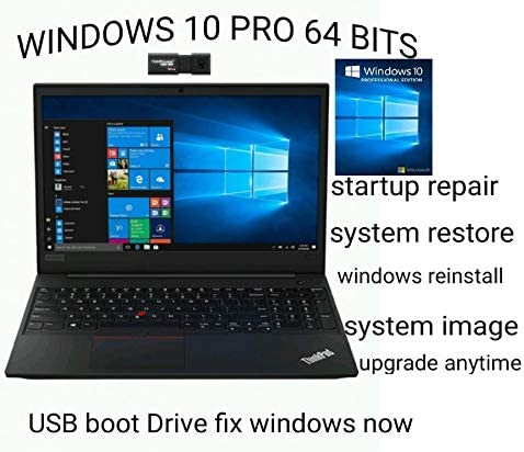 WINDOWS 10 PRO LATEST VERSION 1909 64 BIT USB 2 FREE DVDs 1 DO IT YOURSELF INSTALL REINSTALL product image
