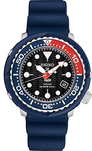 Seiko PADI Special Edition Prospex - Reloj de buceo solar con correa de silicona negra...