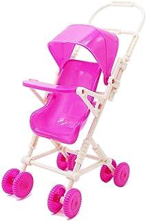 Broadroot 9pcs Miniatur Kunststoff Puppe Kinderwagen Trolley