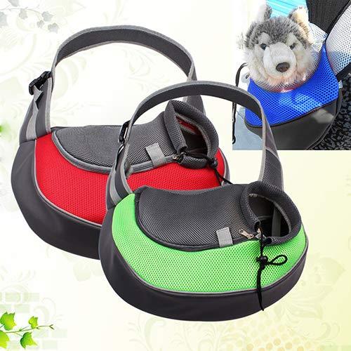 Lai-LYQ Rugzak voor huisdieren, schoudertas, reistas met ritssluiting voor hondenwelpen, rugzak voor honden, reistas voor dieren, reizen, feesten, dagelijks leven, SNone, Rood