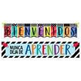 Creative Teaching Press Bold and Bright Bienvenidos! Spanish Banner, 2 Sided (Display in Classroom, School Hallway, Church, Daycare, Learning Spaces and More) (8154)