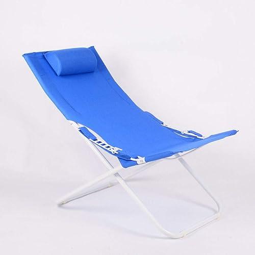 KKCD Chaise Camping en Plein Air Plage Renforcée Transats Office Home Leisure Chaise Nap Déjeuner Simple Simple Couché sur Le Lit