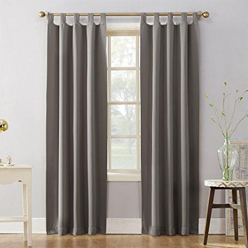 "Sun Zero 51931 Easton Blackout Energy Effcient Tab Top Curtain Panel, 40"" x 84"", Gray"