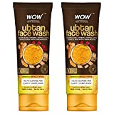WOW Skin Science Ubtan Face Wash with Chickpea Flour, Turmeric, Saffron, Almond Extract, Rose Water & Sandalwood Oil - No Sulphate, Parabens, Silicones & Color - Pack of 2 - Net Vol 200mL