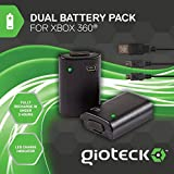 Gioteck - Dual Battery Pack + Cable Play & Charge (Xbox 360)