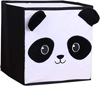 TILI Cute Home Storage Basket with Uncoated Stereo Fleece Clothing Storage Box Toy