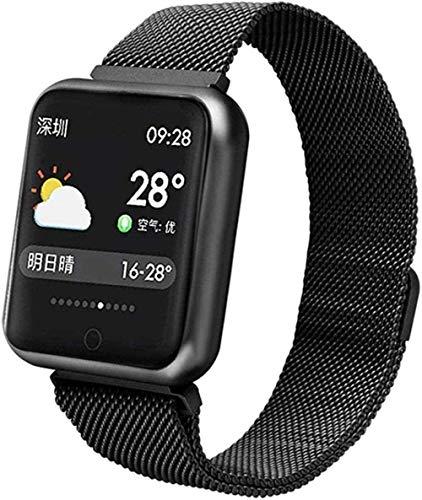 Reloj inteligente 1 3 pulgadas pantalla Fitness Tracker deportes podómetro pulsera mensaje push recordatorio inteligente IP68 impermeable 230 mAh moda blanco negro