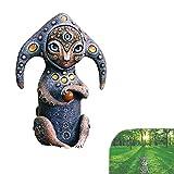 Rain Creature fatte a Mano da Statue del Mondo fantastico, Creature mitologiche fantastiche che vivono nello spazio esterno Sulla Terra, Statue Decorative da giardino in Resina (B)