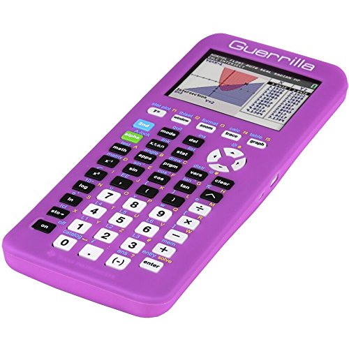 Guerrilla Silicone Case for Texas Instruments TI-84 Plus CE Color Edition Graphing Calculator With Screen protector and Graphing Ruler, Purple Photo #3