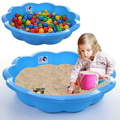 75cm Sand Pit Paddling Pool Blue Plastic Outdoor Garden Kids Childrens Toy...