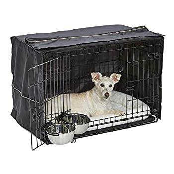 iCrate Dog Crate Starter Kit | 30-Inch Dog Crate Kit Ideal for Medium Dog Breeds  weighing 26 - 40 Pounds  || Includes Dog Crate Pet Bed 2 Dog Bowls & Dog Crate Cover