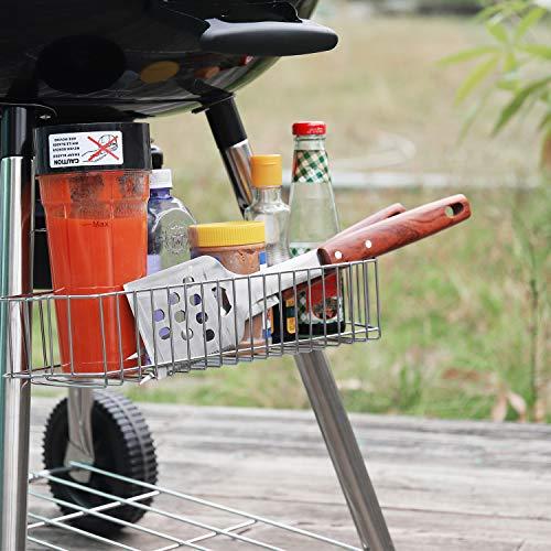 TACKLIFE Holzkohle Grill, Kugelgrill 91 * 76 * 56 cm, ø 57cm mit 4 Dicke Beine, Rundgrill mit Extra Grill und Regal, geeignet für Partys, Camping, Grillen (Empfohlene: 5-12 Personen) - CG01A - 5