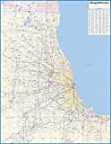 Chicago Metro Area Laminated Wall Map (42'x55')