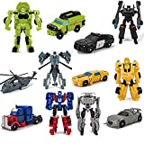 6 PCS Car Robot Toys, Mini Action Figure, Deformation Robot for Kids 5~12